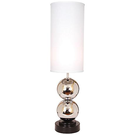 Van Teal Run Around White Shade Chrome Table Lamp