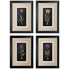 Springtime Flowers Set of 4 Framed Prints