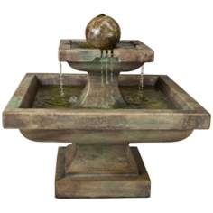 Equinox Cast Stone Fountain