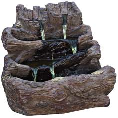 Spilling Logs Cast Stone Fountain