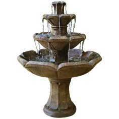 Montreux Four-Tier Cast Stone Fountain