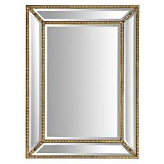 "Beverly 47"" High Gold Leaf Foyer Mirror"