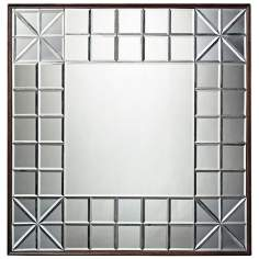 "Gatsby 37"" Square Contemporary Wall Mirror"