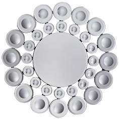 "Worland 31"" Round Contemporary Wall Mirror"
