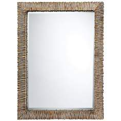 Gascoine Textured Wall Mirror In Kostin Bronze Finish
