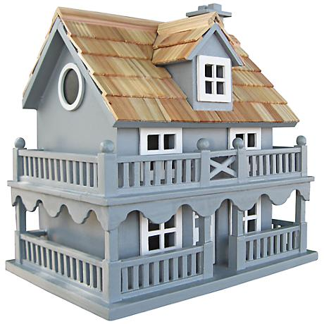 Novelty Blue Cottage Birdhouse