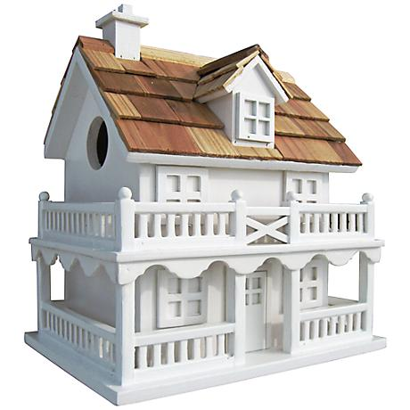 Novelty White Cottage Birdhouse