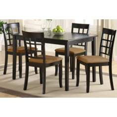 HomeBelle Five-Piece Trellis Back Casual Dining Set