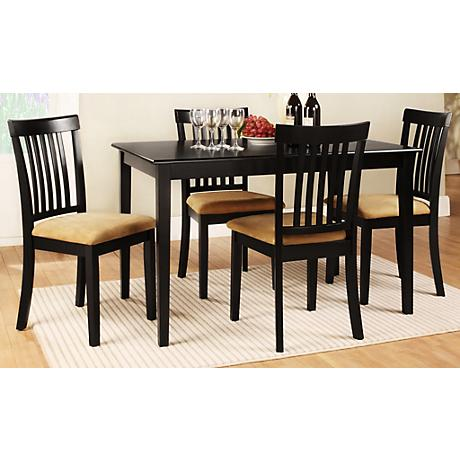 HomeBelle 5-Piece Vertical Slat Back Casual Dining Set