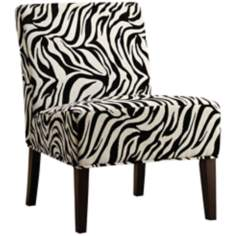 HomeBelle Zebra Print Accent Chair