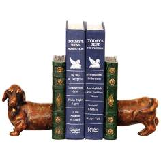 Peppy Puppy Copper and Gold Bookends