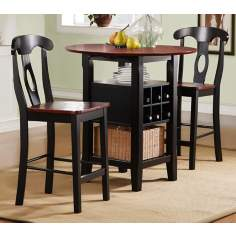 HomeBelle 3-Piece Counter Bistro Set