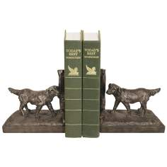 Set of 2 Retriever Brown Bookends