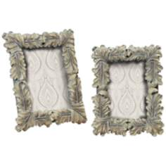 Set of 2 Florentine Scroll Grey Picture Frames