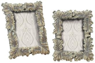 Set of 2 Florentine Scroll Grey Picture Frames (2H353)
