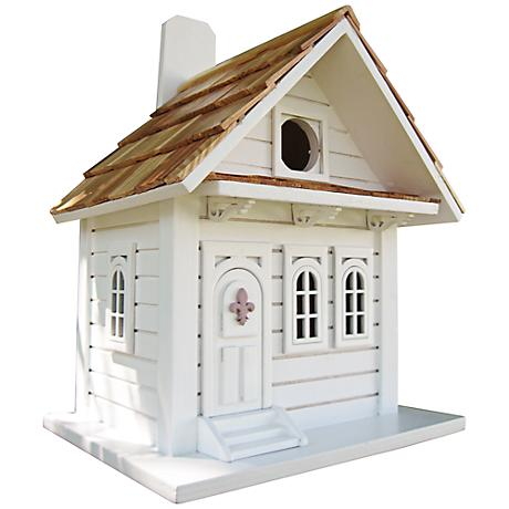 Shotgun White Cottage Birdhouse
