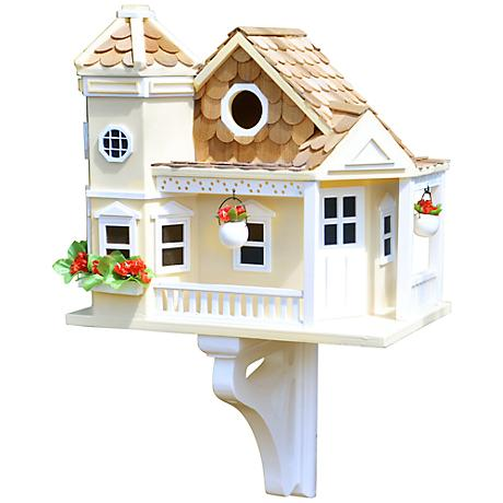 Sea Cliff Yellow Cottage Birdhouse