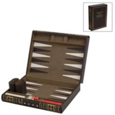 Abbot Small Brown Backgammon Set