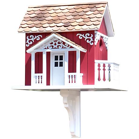 Red Swedish Cottage Birdhouse