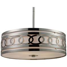 "Zarah 5-Light 23"" Wide Polished Nickel Pendant Light"