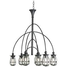 "Currey and Company Telegram 10-Light 39"" Wide Chandelier"