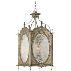 Currey and Company Perpetua 4-Light Pyrite Bronze Lantern