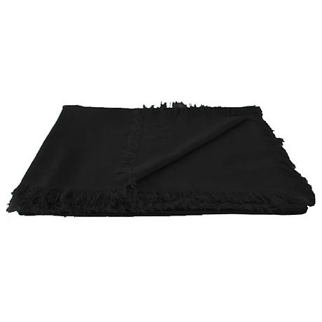 Tissu Tissu Black Throw Blanket