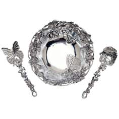 Arthur Court Set of 2 Butterfly Salad Servers