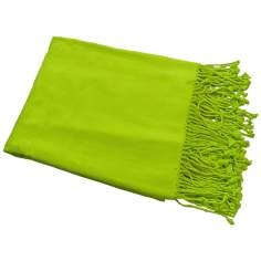 Bamboo Luxury Bright Chartreuse Green Throw Blanket