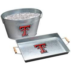 Arthur Court Texas Tech Galvanized Beverage Tub