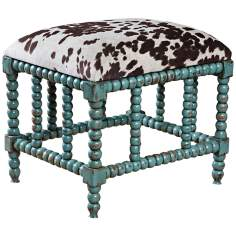 Uttermost Chahna Aqua Blue Small Bench