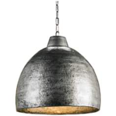 "Earthshine Wrought Iron Dome 22"" Wide Pendant Light"
