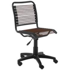 Bungie Low-Back Graphite Black and Brown Office Chair