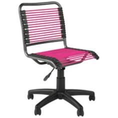 Bungie Low-Back Black and Pink Office Chair