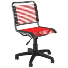 Bungie Low-Back Black and Red Office Chair