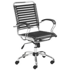 Bungie Black and Chrome Office Chair