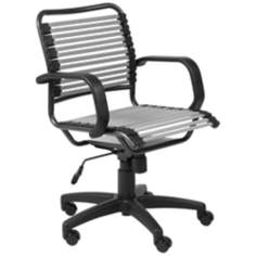 Bungie Mid-Back Graphite Black and Silver Office Chair