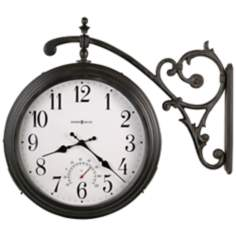 "Howard Miller Luis 19 1/2"" High Double Sided Wall Clock"