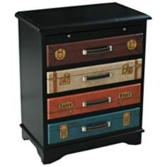 Black Suitcase Accent Chest