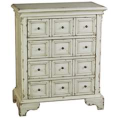 Distressed Mint Accent Chest