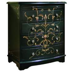 Onyx Black Scroll Accent Chest