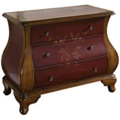 Center Stage Red Bombe Accent Chest