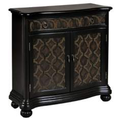 Ebony Serpentine Accent Chest