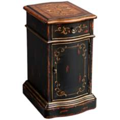 Versailles Black Accent Chest