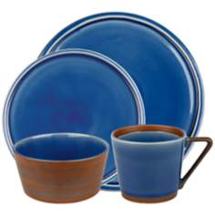 Pure Nature Blue 16-Piece Placesetting