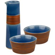 Pure Nature Blue Oil and Vinegar Dipping Set