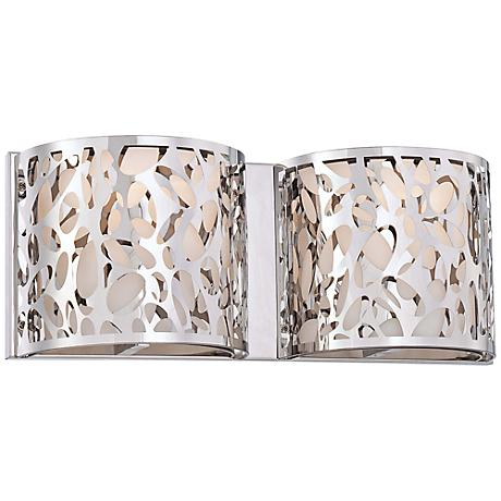 "George Kovacs Layover 6 1/4"" High Chrome Wall Sconce"