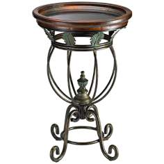 Santa Rita Espresso and Bronze Side Table