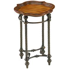 English Oval Rose Wood Side Table