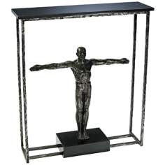 Columbo Human Figure Raw Steel Accessory Table